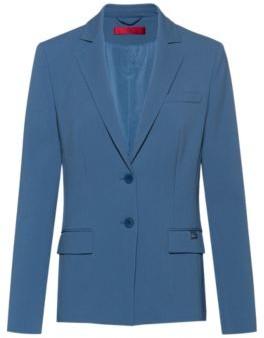 HUGO BOSS Regular Fit Jacket In Pique Fabric - Dark Blue