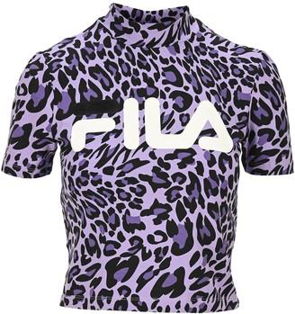 Fila Every Leopard Print Turtleneck T-Shirt