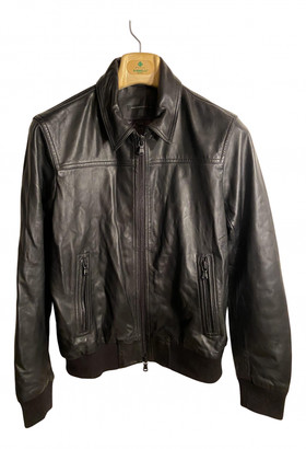 John Varvatos Black Leather Jackets