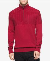 Calvin Klein Men's Half-Zip Multi-Texture Turtleneck- Macy's Exclusive