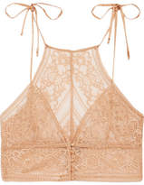 Stella McCartney Ophelia Whistling Stretch-leavers Lace Soft-cup Bra - Peach