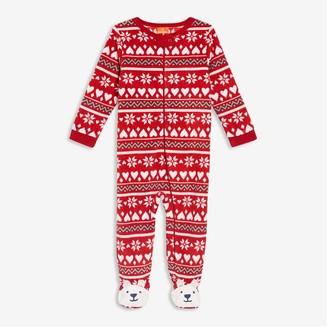 Joe Fresh Baby Girls' Zip-Font Sleeper, Red (Size 12-18)