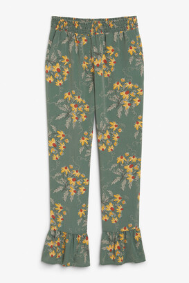 Monki Ruffle hem trousers