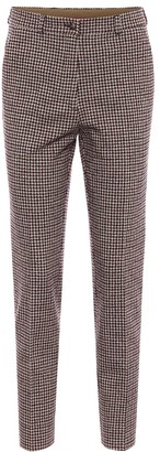Etro Houndstooth cotton-blend pants