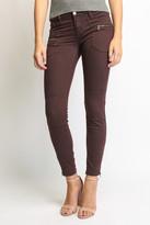 Blank Zip Front Twill Skinny Leg Pants