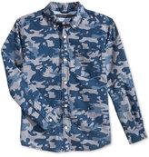 Tommy Hilfiger Glen Camo-Print Shirt, Big Boys (8-20)