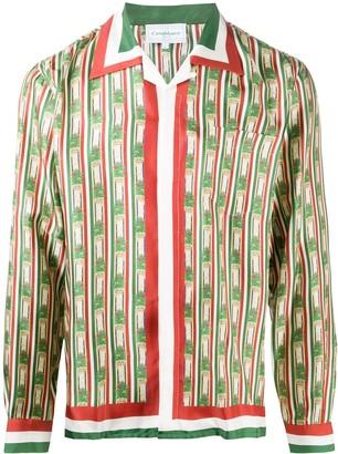 Casablanca Printed Silk Shiirt