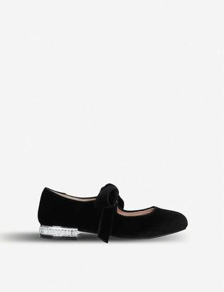Kurt Geiger Diamond velvet shoes 7-10 years