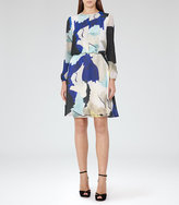 Reiss Neave Watercolour-Print Dress