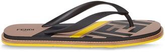Fendi FF pattern flip-flops