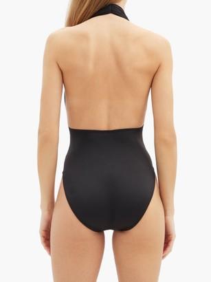 Norma Kamali Halterneck Low-back Swimsuit - Black