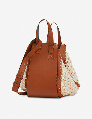 Loewe Hammock cotton and leather small shoulder bag