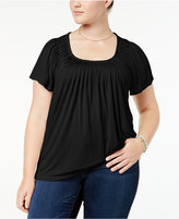 Style&Co. Style & Co Plus Size Pleated Top, Created for Macy's