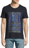 Burberry Acoustic Check-Graphic T-Shirt, Blue