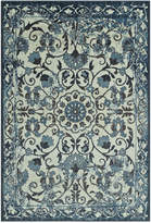 "D Style Menagerie MEN29 Ivory 8'2"" x 10' Area Rug"
