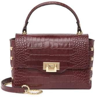 Persaman New York Aviela Croc-Embossed Leather Crossbody Bag