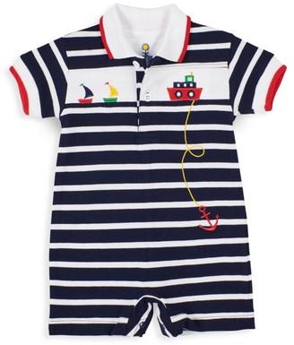 Florence Eiseman Baby Boy's Striped Tugboat Shortalls