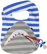 Mud Pie Bib & Paci Holder - One Size - Shark