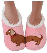 Snoozies Womens Classic Splitz Applique Slipper Socks