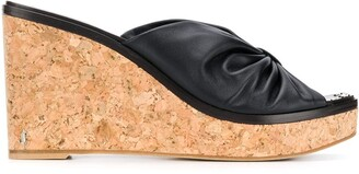 Jimmy Choo June 90mm wedge sandals
