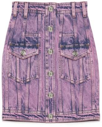 Balmain Bleached Mini Skirt