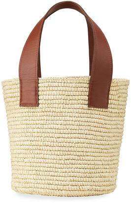 Sensi Medium Straw Tote Bucket Bag