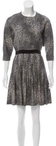 Azzaro Printed Mini Dress