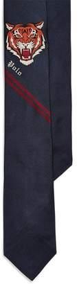 Ralph Lauren Tiger-Head Silk Narrow Tie