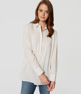 LOFT Petite Ladder Lace Tunic Shirt