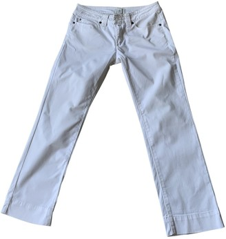 Cerruti Ecru Cotton Trousers for Women