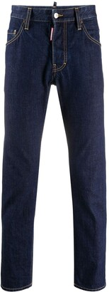 DSQUARED2 High-Rise Straight Leg Jeans
