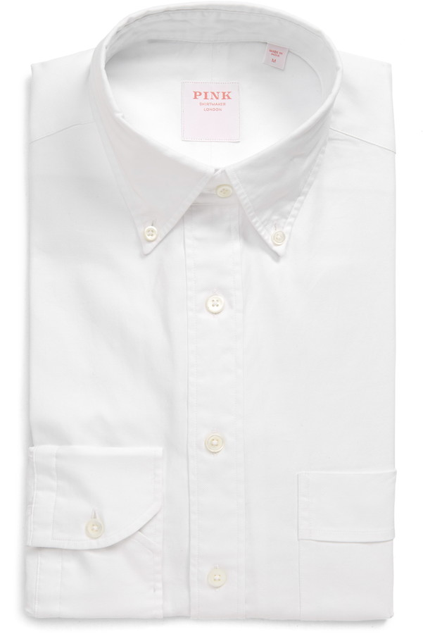 Thomas Pink Weekend Trim Fit Oxford Button-Down Shirt