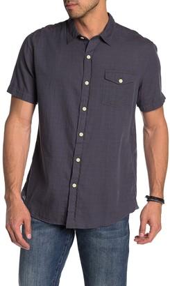 Grayers Horizon Short Sleeve Slub Twill Modern Fit Shirt