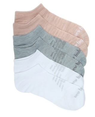 New Balance Ribbed Women's No Show Socks - 6 Pack