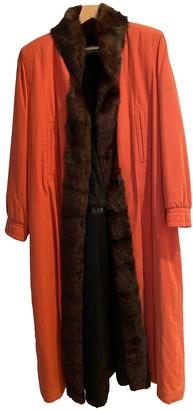 Saint Laurent Orange Mink Coats