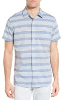 Grayers Men's Sheffield Trim Fit Stripe Chambray Sport Shirt