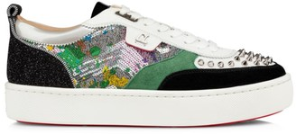 Christian Louboutin Happy Rui Spikes Mix Media Sneakers