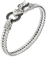 John Hardy Legends Naga 7mm Station Bracelet with Black Sapphire (Silver) Bracelet