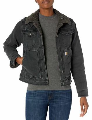 Carhartt Women's Rugged Flex Denim Sherpa-Lined Jacket
