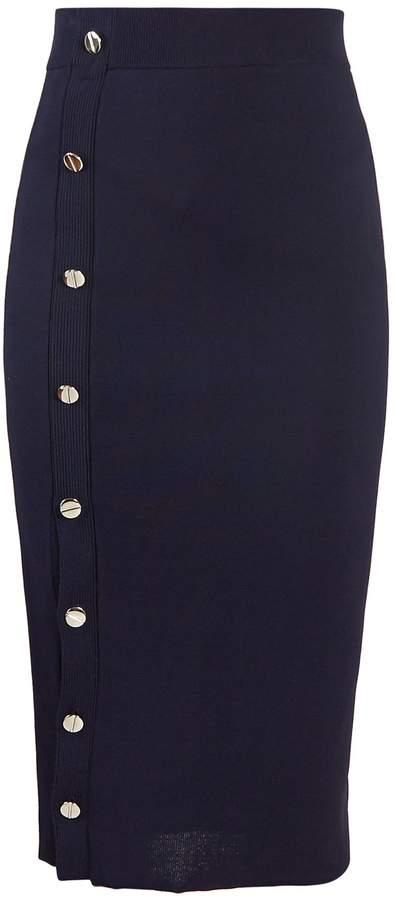 Altuzarra Enya button-through stretch-knit midi skirt