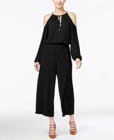 MICHAEL Michael Kors Cold-Shoulder Cropped Jumpsuit