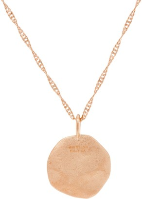 "Diamonique Motif Pendant with 18"" Chain, 14K Rose Gold Clad"