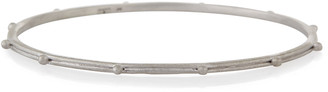 Armenta New World Granulated Silver Bangle Bracelet
