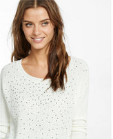 Express studded hi-lo sweater