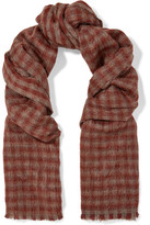 Brunello Cucinelli Fringed Alpaca And Wool-Blend Scarf