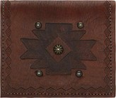 American West Women's Bi-Fold Boyfriend Wallet Studded