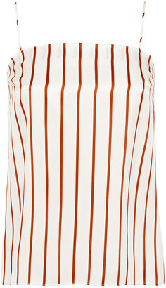 Ginia Striped Silk-satin Camisole