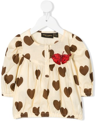 Mini Rodini Hearts-Print Blouse