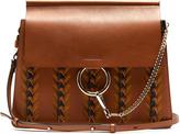 Chloé Faye medium braid-embellished leather shoulder bag
