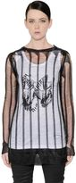 Ann Demeulemeester Destroyed Viscose Jersey Top